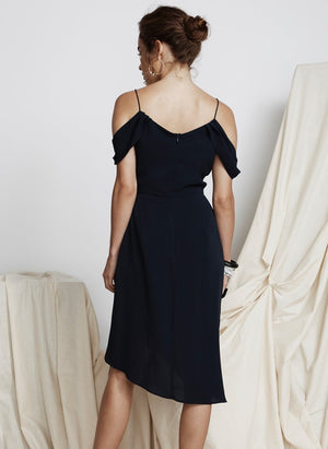 Private Show Midi Dress Navy