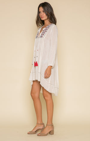 Cream Cotton lrex Dress-Raga-Meet Me in Mumbai Tunic