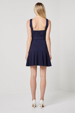 Navy fit and flare Mini-Elliatt-Range Dress