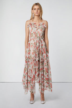 Pleated Floral Dress-Elliatt-Ring Dress
