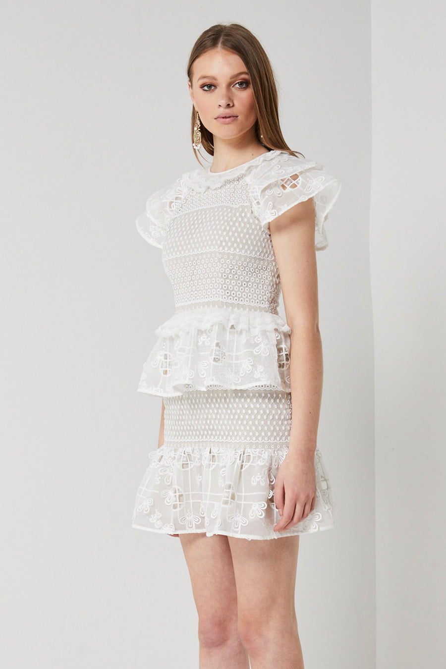 White lace party dress-Elliatt-Savannah Dress