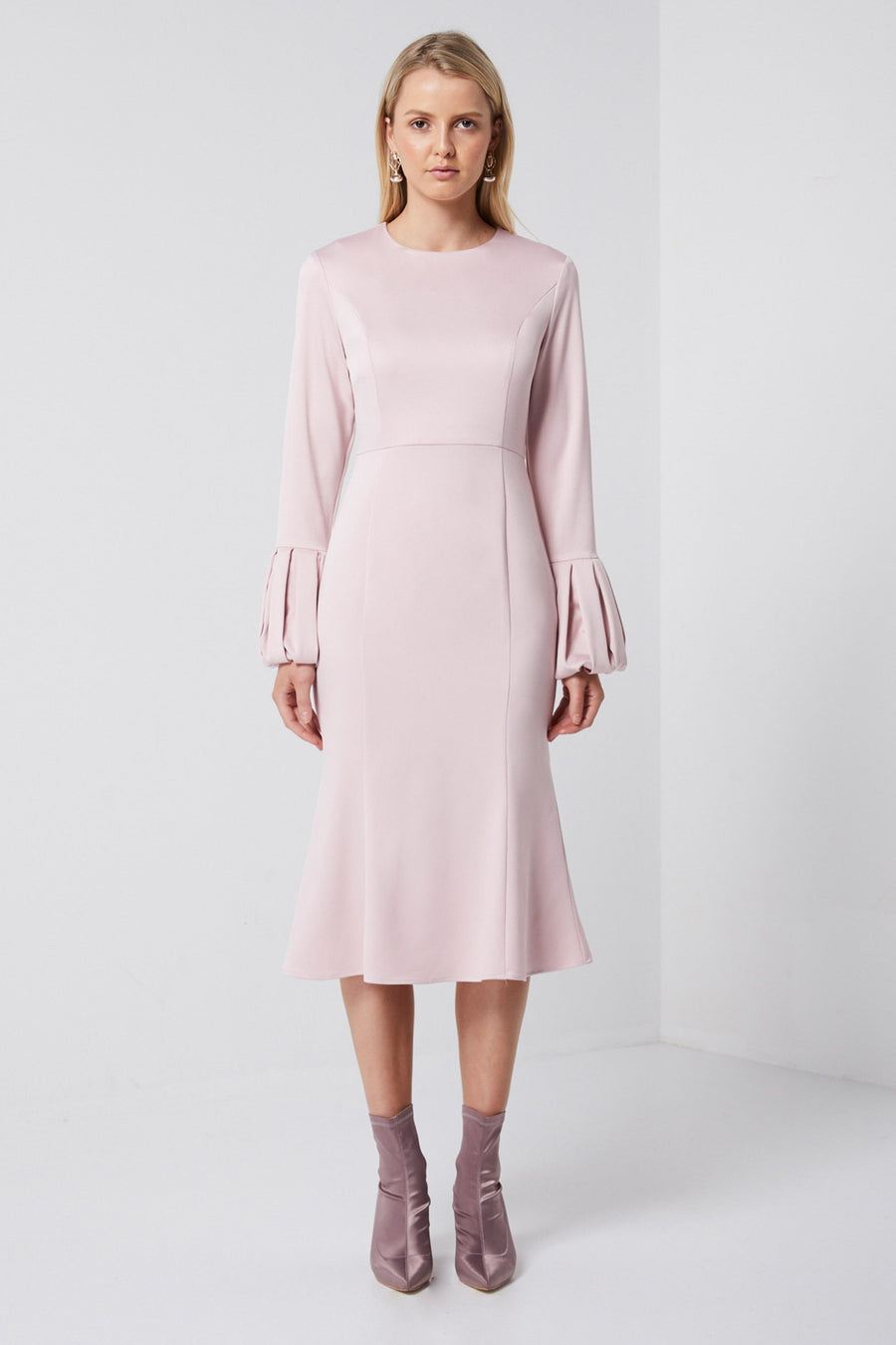 Pink Satin Dress-Elliatt-Showcase Dress