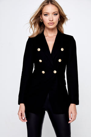 Ladies Blazer-Mossman- The Signature Blazer Black