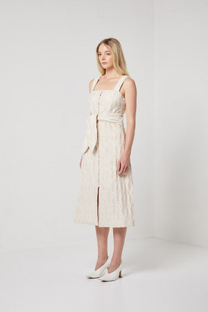 Cream Button Front Dress-Elliatt-Sinai Dress