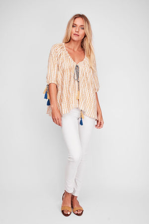 Desert Dust Peasant Blouse