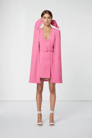 Hot Pink Cape Dress-Elliatt-Star Cape Set