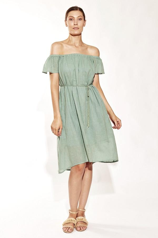 Ladies Summer Midi Dress-Solito-Sundrench Midi Dress Mint