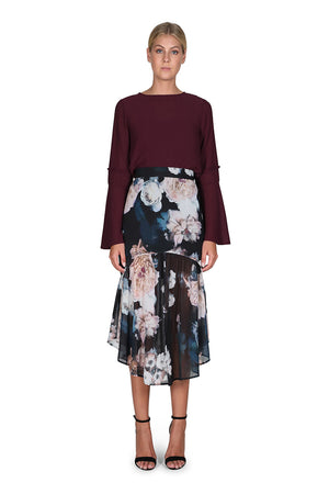 Cooper St The Great Florescence Midi Skirt