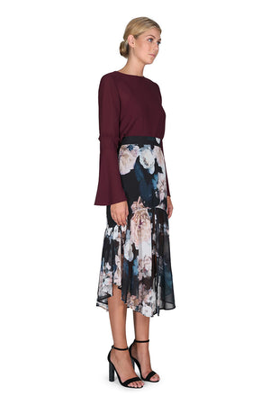 The Great Florescence Midi Skirt