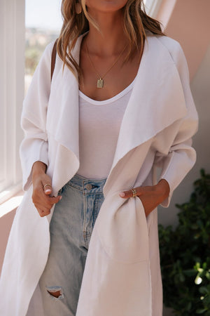 Oversize Cardigan-Sundays the label-Tia Cardigan White