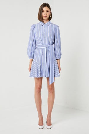 Stripped Blue Cotton dress-Elliatt-Tiramisu Dress