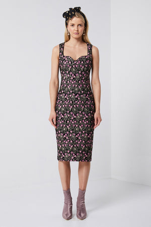 Floral Evening Dress-Elliatt-Vallori Dress