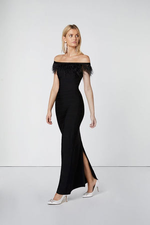 Black Evening Dress-Elliatt-Veil Dress