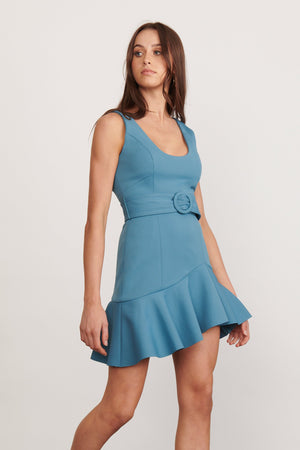 Ladies Blue mini Dress-Elliatt -Voyage Dress