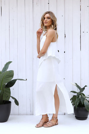 Lost in Lunar Saffron Maxi Dress