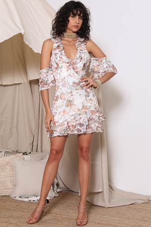 Ladies floral lace mini-Pre the Label-Amina Mini Dress