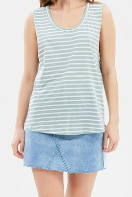 Nude Lucy-Ladies Stripe Tank top-Collins Scoop Tank