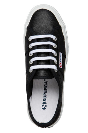 Superga 2750 Cotu Leather Black and White