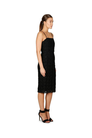 Ladies Dress - Cooper St - Black - Floral Mirage Lace Midi Dress