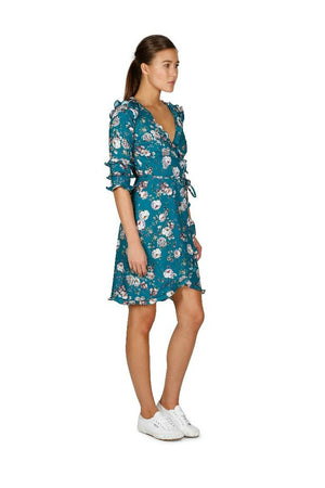 Ladies Floral Wrap Dress - Cooper St - Garden Beam Wrap Dress