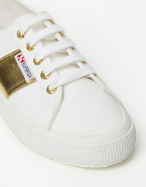 Superga Cotcotmetw White Gold