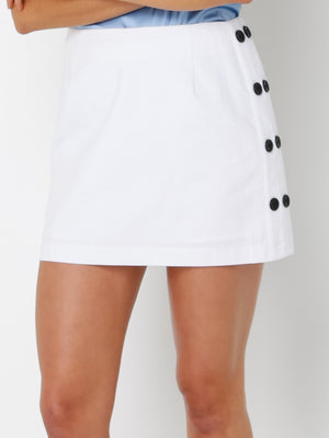 Cedric Side Button Skirt Lulu