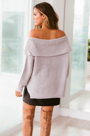 Ladies Top - Jumper - Reece Off Shoulder Knit - SNDYS - Sundays The La...