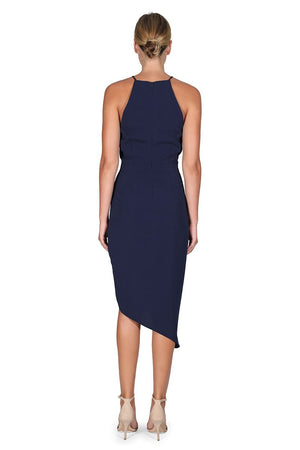 Ladies Navy Dress - Cooper St - Riverside Drape Dress