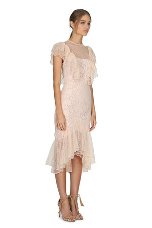 Rosie Lace Ruffle Dress