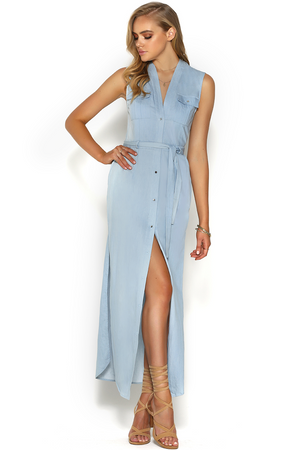 Runaway Euphoria Maxi Dress Chambray