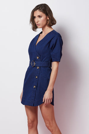 Denim Dress with ?Belt-Elliatt-Solange Dress