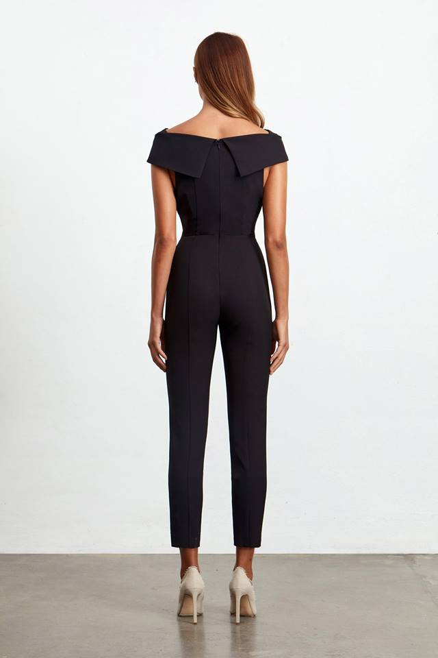 Ladies Jumpsuit - Sorrento Jumpsuit - Black - Elliatt