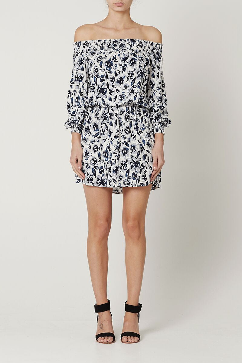 May the Label Yolanda Dress Stormy Floral