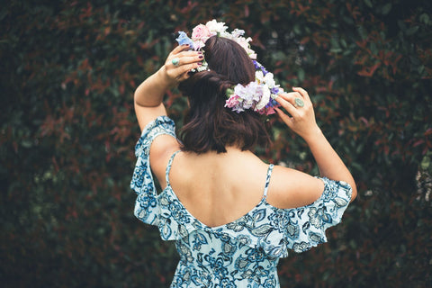 back flower crown