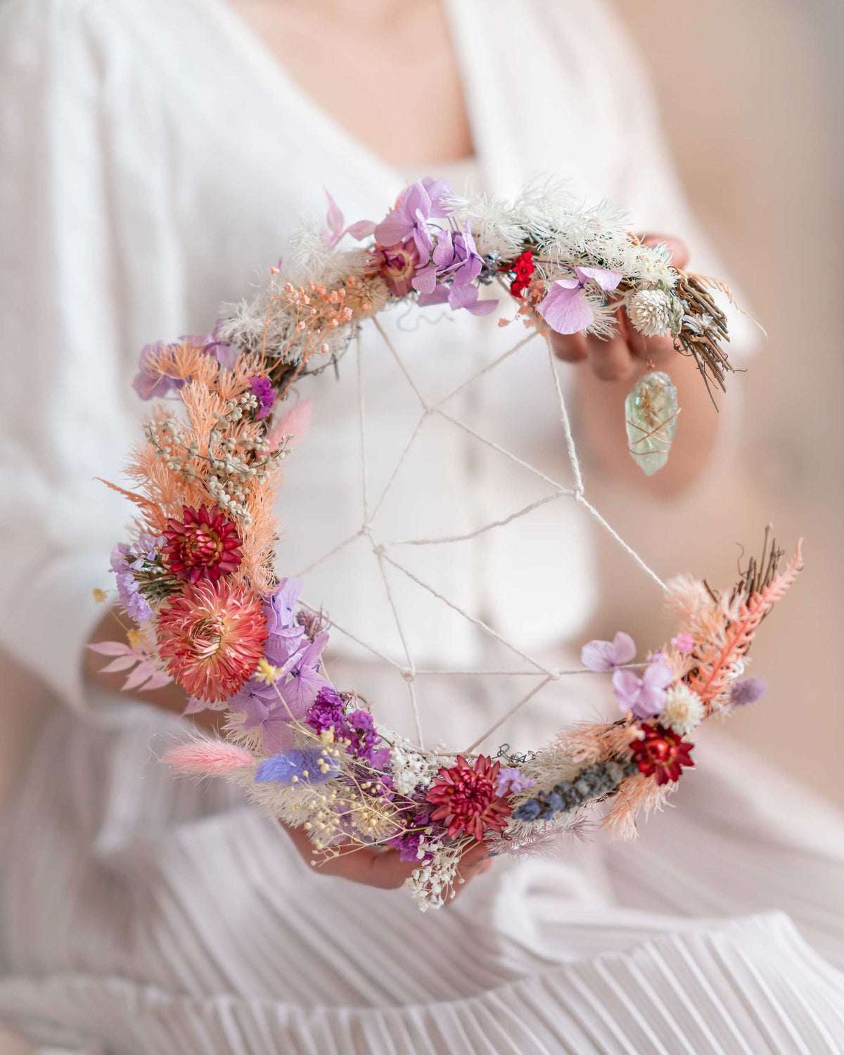 Crystal & Flowers DreamCatcher DIY Pack