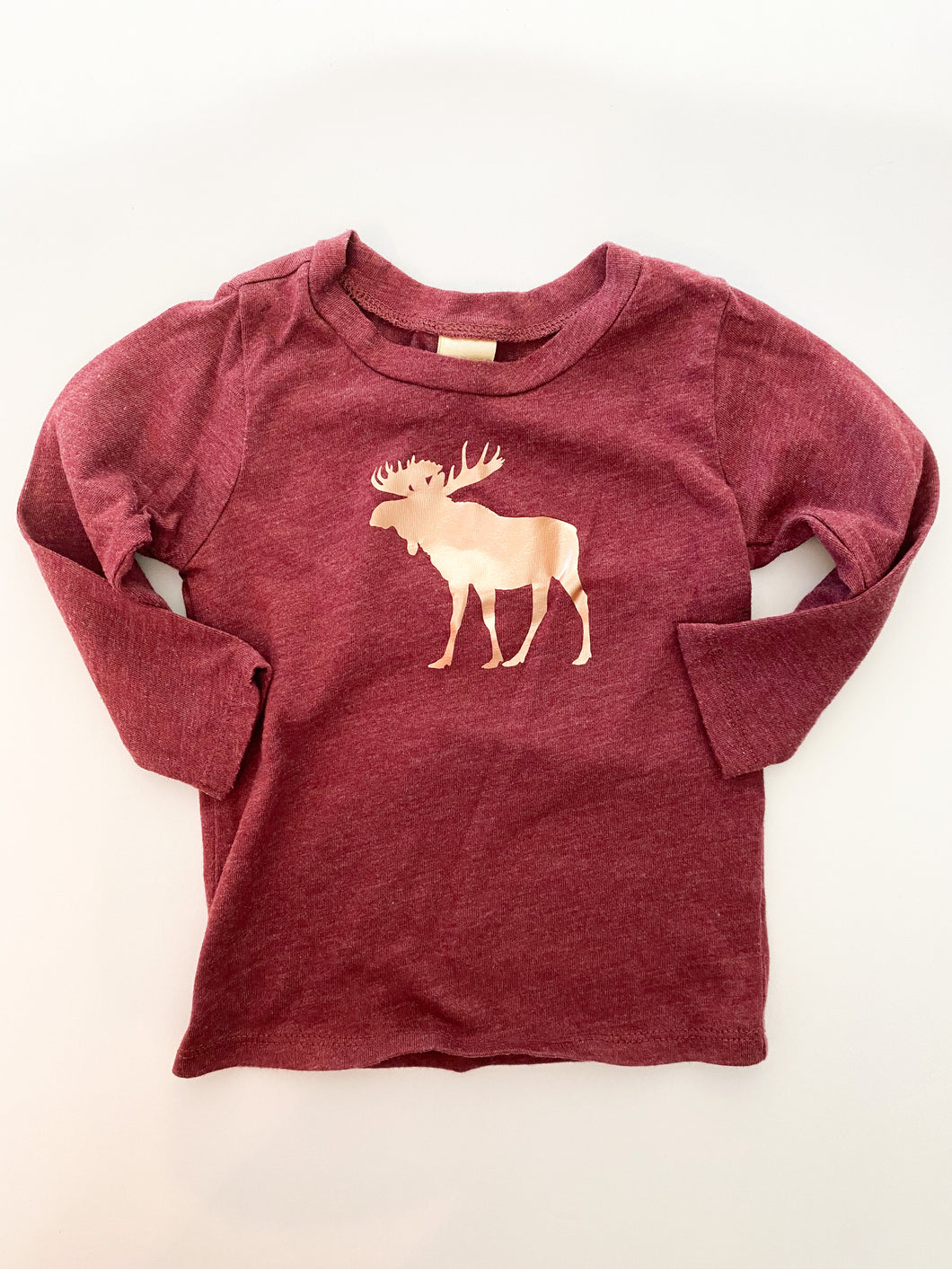 6m Love of little Rose Gold Moose on Maroon ( like new )