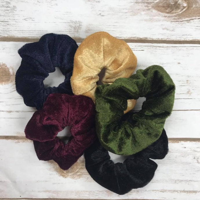 Slightly Flawed kids scrunchies (mystery colour)