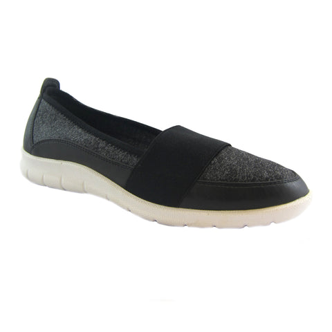 Surprise Black jeresy stretch casual slip on Bee's by Beacon