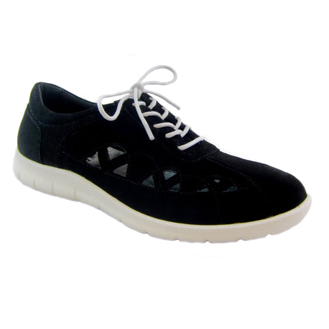 Toby Black comfort casual lace up Bees by Beacon
