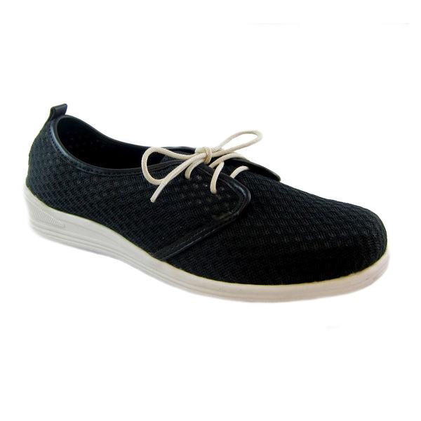 Laurie Black casual mesh lace up Bee's by Beacon