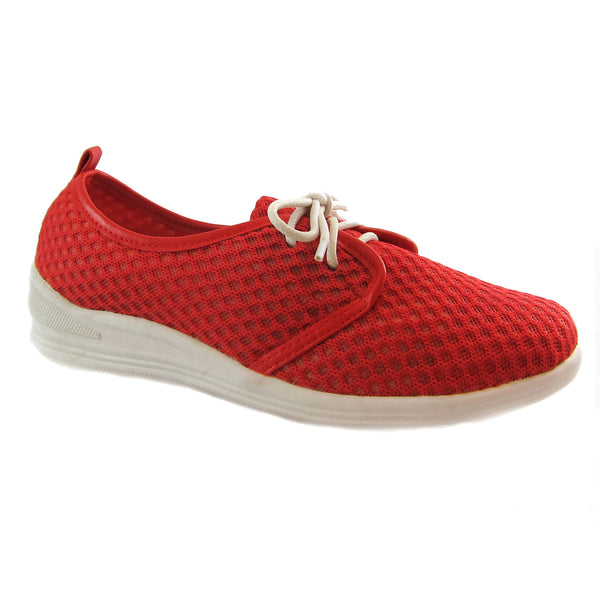 Laurie red casual mesh lace up Bee's by Beacon