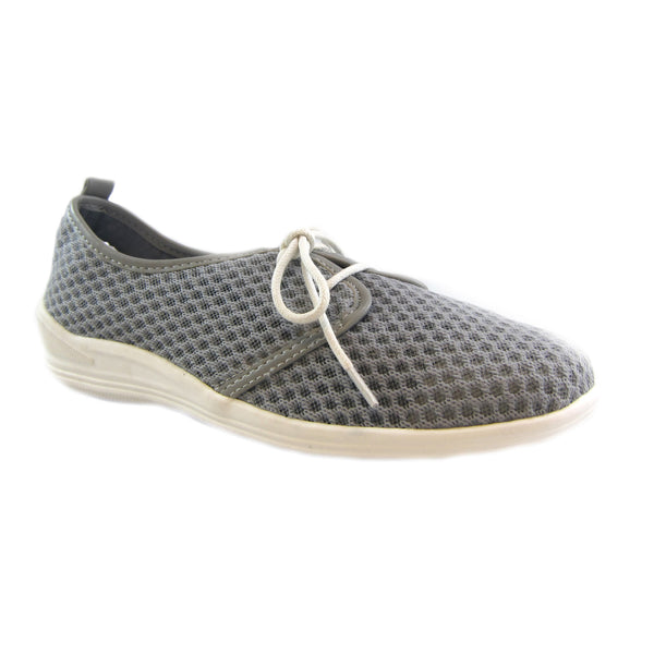 Laurie grey casual mesh lace up Bee's by Beacon