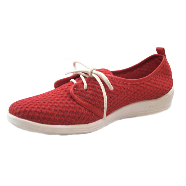 Laurie red casual mesh lace up side Bee's by Beacon