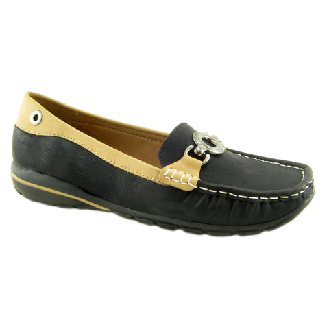 Captiva Black casual loafer by Beacon