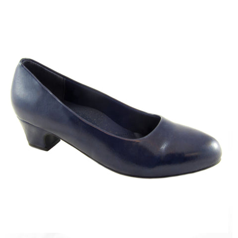 Carrie Navy classic low heel pump by Beacon