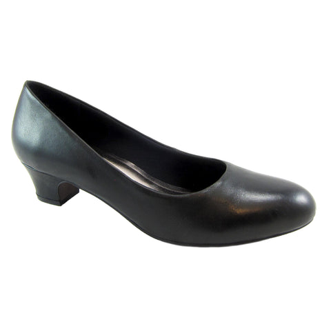 Connie Black Leather pump by Beacon Fashion and Fit