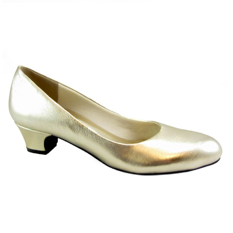 Connie Platinum Leather pump by Beacon Fashion and Fit