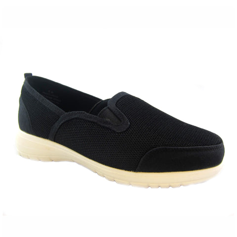 Dandy black mesh casual slip on by Bee's by Beacon