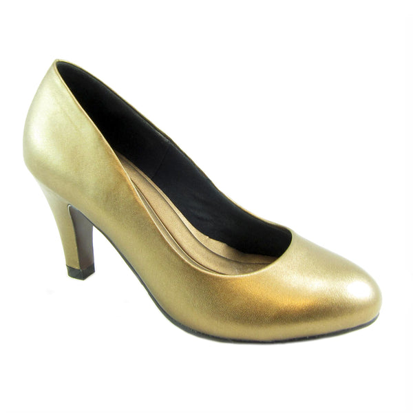 Janice Bronze ginuine leather bump by Beacon Fashion and Fit