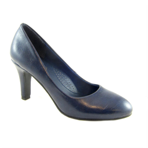 Jennifer navy classig pump by Beacon Fashion and Fit